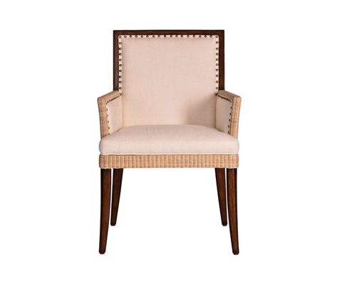 Curate by Artistica Metal Design - Wicker and Burlap Arm Chair - C403-010