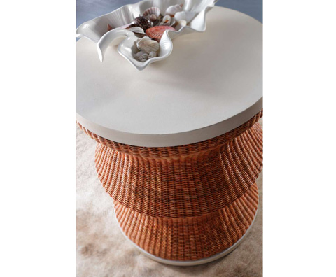Curate by Artistica Metal Design - Whimsy Drum Table in Red - C403-233