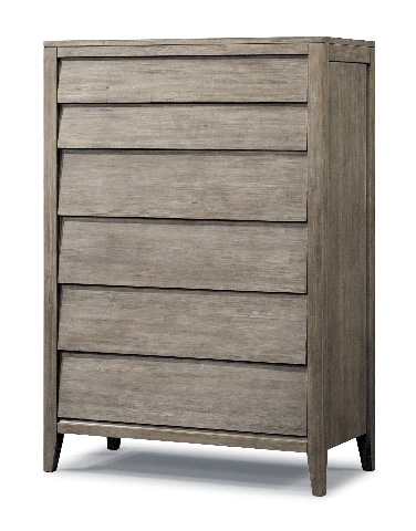 Cresent Fine Furniture - Six Drawer Louvered Chest - 5608
