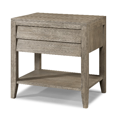 Image of Louvered Drawer Nightstand