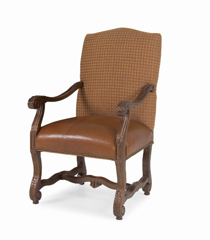 C.R. Laine Furniture - Gristmill Leather Dining Chair - L9536