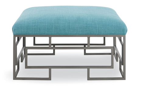 C.R. Laine Furniture - Ottoman with Metal Base - 90