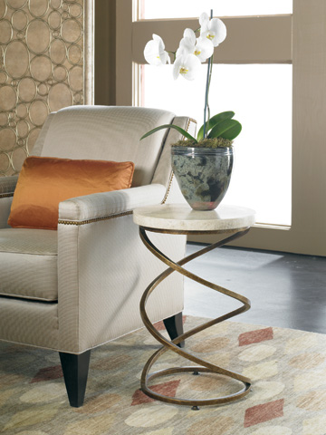 CTH-Sherrill Occasional - Stone Top Accent Table - M13-80