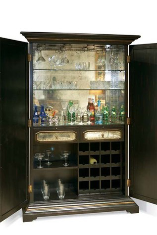CTH-Sherrill Occasional - Mirrored Bar Cabinet - 960-000