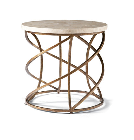 CTH-Sherrill Occasional - Round Spiral Base Lamp Table - M13-30