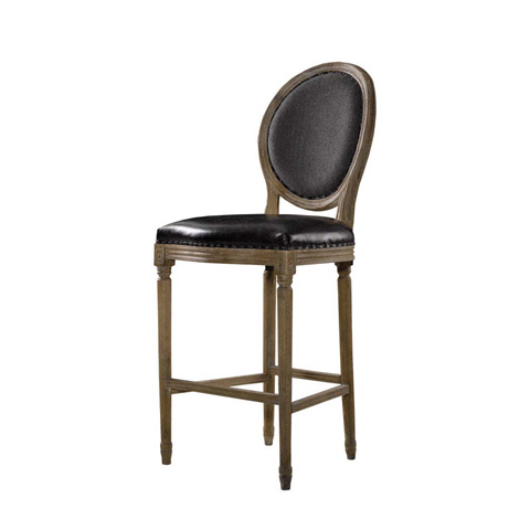 Curations Limited - Slate Leather and Wool Counter Stool - 8828.3001