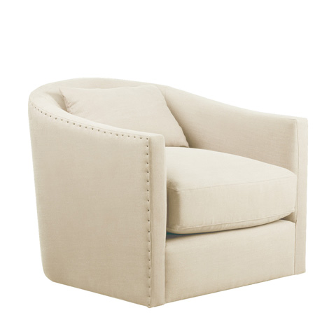 Curations Limited - Light Auburn Swivel Chair - 7841.1207
