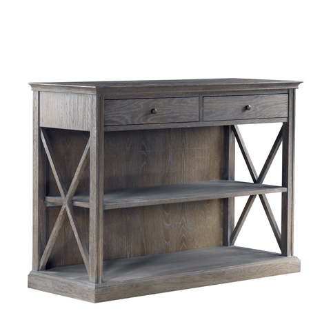 Curations Limited - Grey French Casement Small Console - 8810.1142.E628