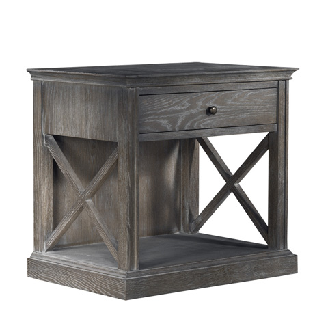 Curations Limited - Grey French Casement Accent Table - 8810.1143.E628