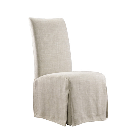 Curations Limited - Beige Flandia Slip Skirt Chair - 8826.1003.A015