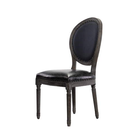 Curations Limited - Vintage Louis Indigo Side Chair - 8827.1107