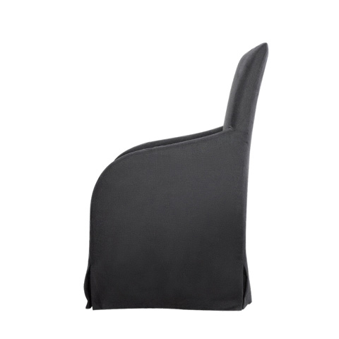Curations Limited - Flandia Black Arm Chair - 8826.1104