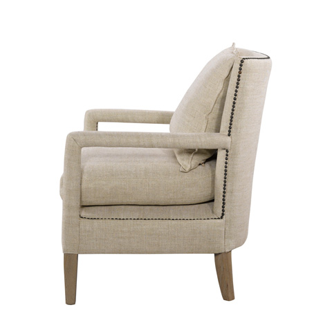 Curations Limited - Vichy Linen Chair - 7841.0038.A015