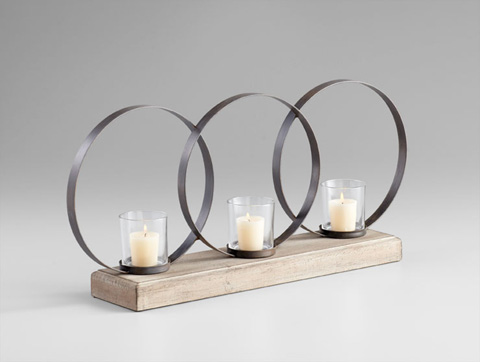 Image of Ohhh Three Candle Candleholder