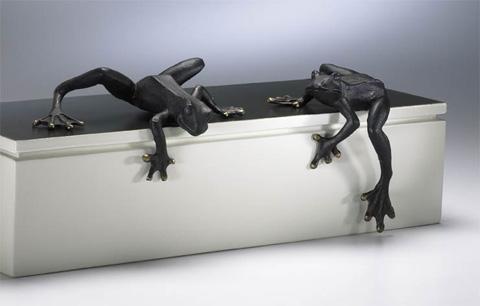 Cyan Designs - Iron Frogs - Set Of 2 - 00701