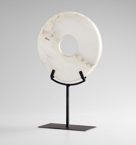 Cyan Designs - Large White Disk on Stand - 02309