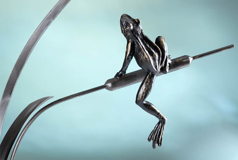 Cyan Designs - Frog and Dragon Fly Sculpture - 04455