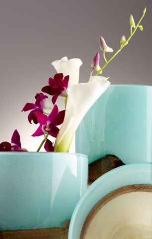 Cyan Designs - Small Turquoise Earth Vase - 05872