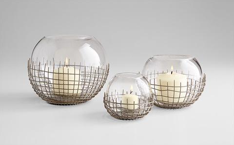 Cyan Designs - Medium Silk Candleholder - 06671