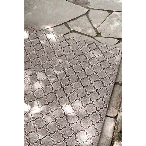 Dash & Albert Rug Company - Plain Tin Gray Wool 8x10 Rug - RDA295-810