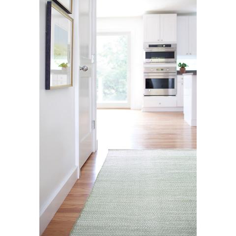Dash & Albert Rug Company - Herringbone Ocean Woven Cotton 8x10 Rug - RDA357-810