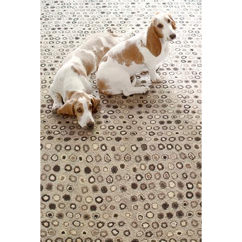 Dash & Albert Rug Company - Cat's Paw Natural Wool Micro Hooked Rug - RDA287-58