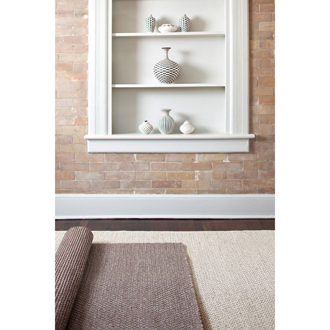 Dash & Albert Rug Company - Honeycomb Ivory/Grey Wool Woven Rug - RDA308-58
