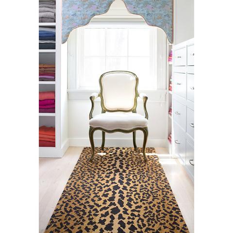 Dash & Albert Rug Company - Leopard Wool Micro Hooked Rug - RDA372-58