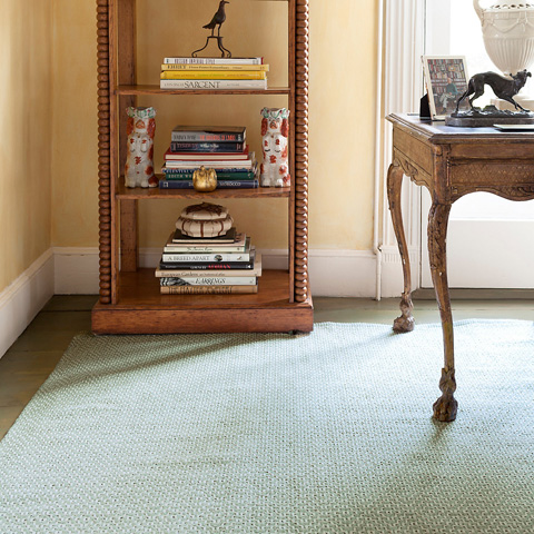 Dash & Albert Rug Company - Beatrice Pale Green Woven Cotton Rug - RDA412-58