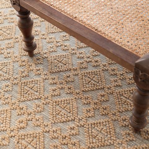 Dash & Albert Rug Company - Alpine Diamond Slate Wool Woven Rug - RDA417-58