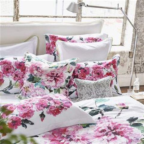 Designers Guild - Shanghai Garden Peony Queen Bedding Set - SHANGHAIGARDEN