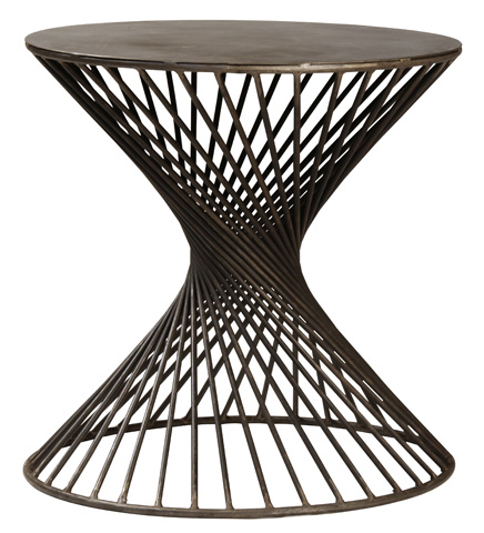 Dovetail Furniture - Iron Side Table - AH005