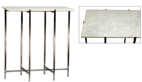 Dovetail Furniture - Marble Top Table - AM081