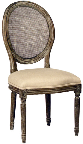 Dovetail Furniture - Dining Chair With Rattan Back - DOV868