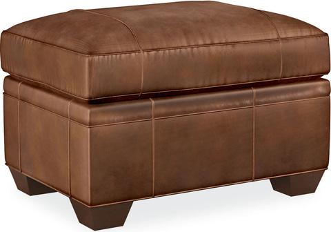 Drexel Heritage - Natalie Leather Ottoman - L69-OT
