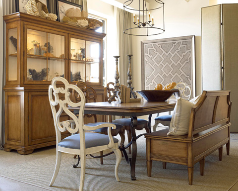 Drexel Heritage - Cecily Dining Table - 850-660B/850-662T