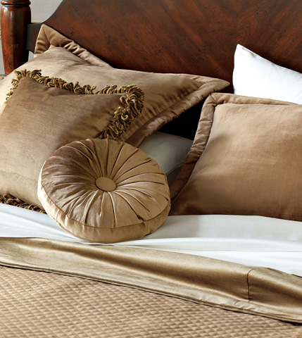 Eastern Accents - Lucerne Gold Tambourine Throw Pillow - LCR-150-10