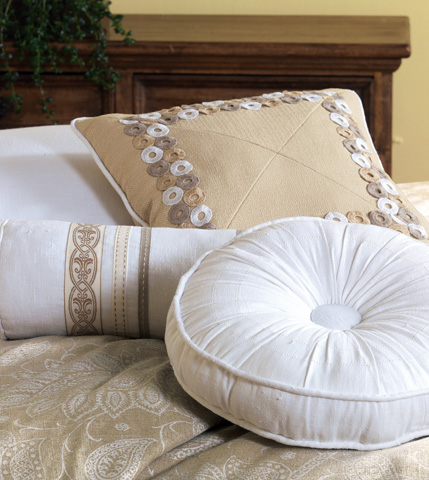 Eastern Accents - Breeze White Neckroll Pillow - AIL-10