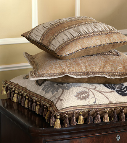 Eastern Accents - Filly Stone Ruched Insert Pillow - AST-07