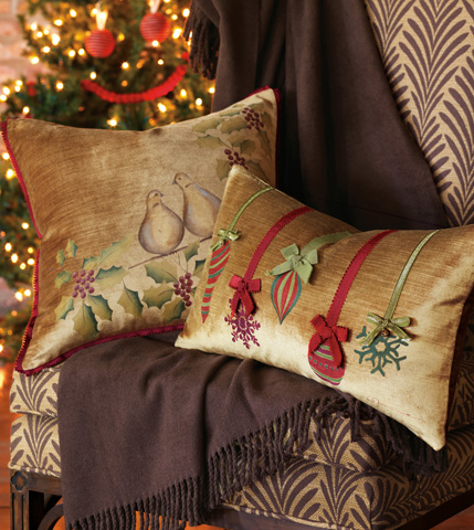 Eastern Accents - Festive Ornaments Pillow - ATE-198