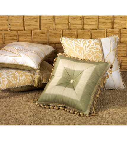 Eastern Accents - Augustine Gold Pillow with Tassels - ATG-09