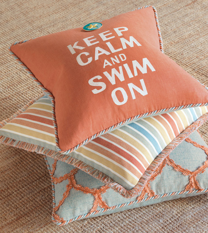 Eastern Accents - Seaside Aruba Pillow With Gimp and Cord - CAP-03