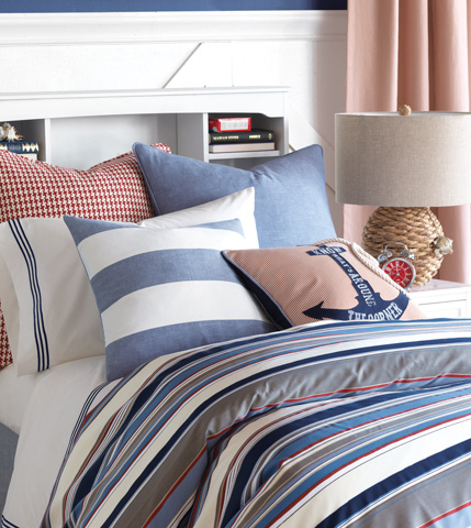 Eastern Accents - Duvall Denim Stripes Pillow - EHA-05