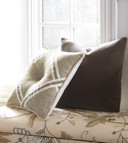 Eastern Accents - Navarro Beige Tufted Pillow - GLG-04