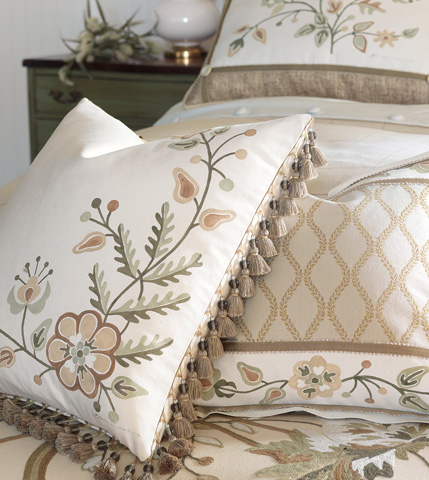 Eastern Accents - Gallagher Hand-Painted Motif Pillow - GLG-09