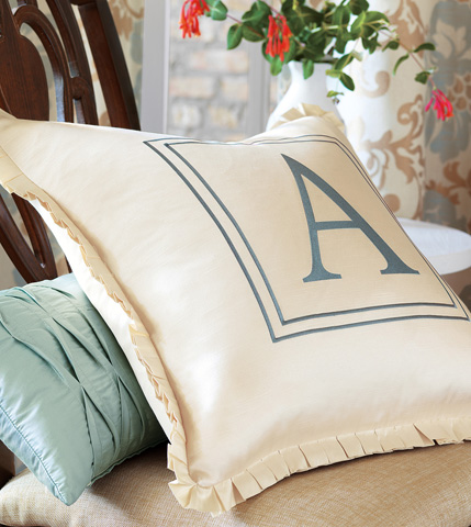 Eastern Accents - Serico Ocean Pillow with Pintucks - KNE-10
