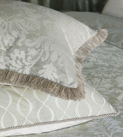 Eastern Accents - Lourde Celadon Pillow with Brush Fringe - LUR-09