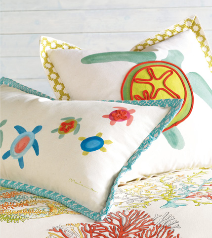 Eastern Accents - Dutchess Shell Hand-Painted Pillow - MLD-12