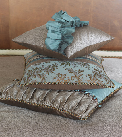 Eastern Accents - Dunaway Umber Ruched Insert Pillow - MOT-03
