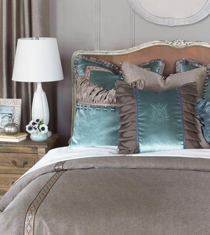 Eastern Accents - Velda Ocean Insert Pillow with Monogram - MOT-11